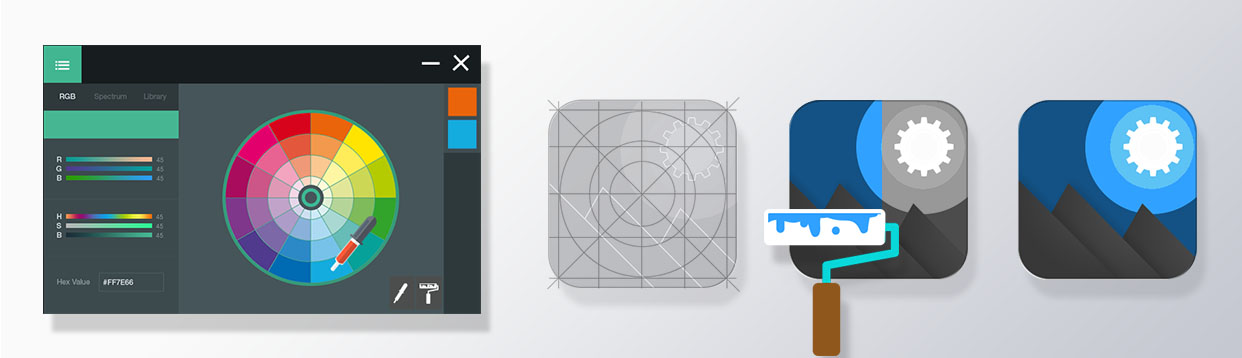 choose the right color scheme for your app icon