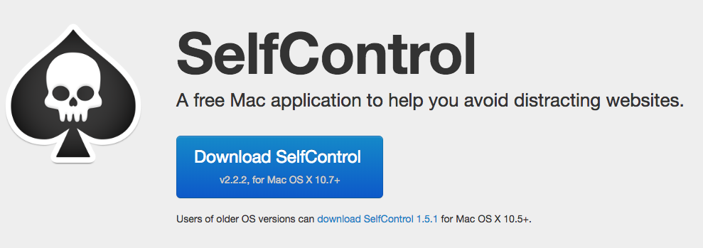 SelfControl Mac app website blocker