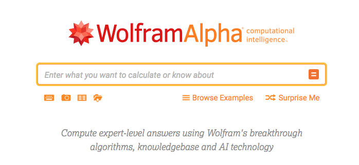 Wolfram Alpha technical college app